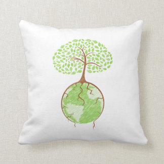 light tree on world eco design.png throw pillow