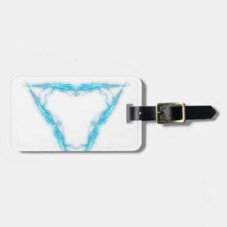 Light triangle luggage tag
