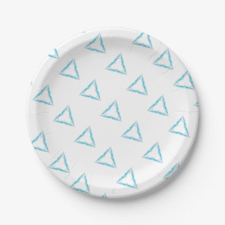 Light triangle paper plate