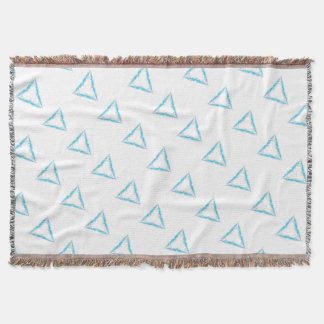 Light triangle throw blanket