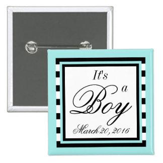 Light Turquoise babyshower 15 Cm Square Badge