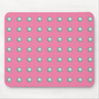 Light Turquoise Balls On Gerber Daisy Pink Pattern Mousepad