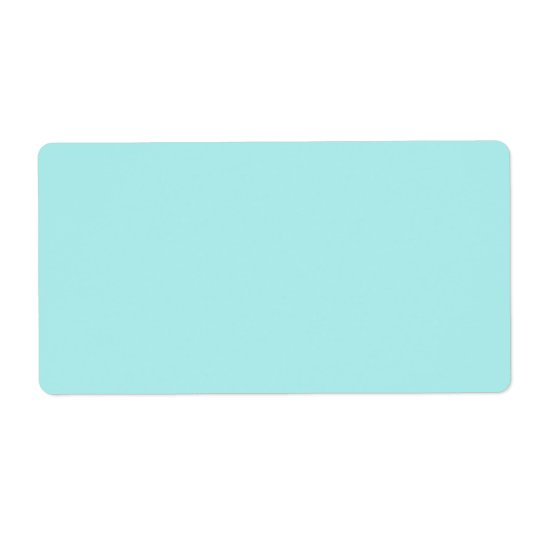 Light Turquoise Shipping Label
