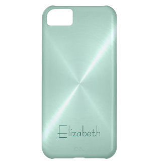 Light Turquoise Stainless Steel Metal Look iPhone 5C Case
