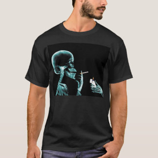 light up a smoke x-ray skeloton T-Shirt