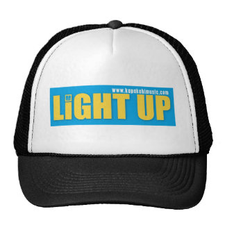 Light Up  Black Trucker Hat