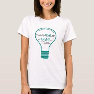 Light Up TEAL 4 Trigeminal Neuralgia T-Shirt