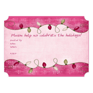 Light Up The Holidays Christmas Party Invitations
