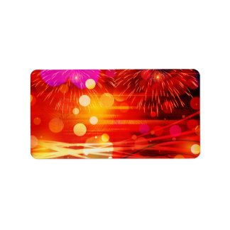 Light Up the Sky Light Rays and Fireworks Address Label