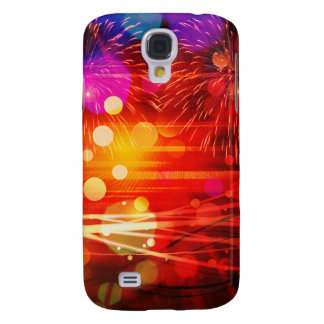 Light Up the Sky Light Rays and Fireworks Samsung Galaxy S4 Covers