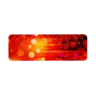 Light Up the Sky Light Rays and Fireworks Return Address Label