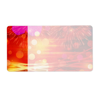 Light Up the Sky Light Rays and Fireworks Shipping Label