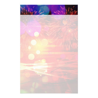 Light Up the Sky Light Rays and Fireworks Stationery Paper