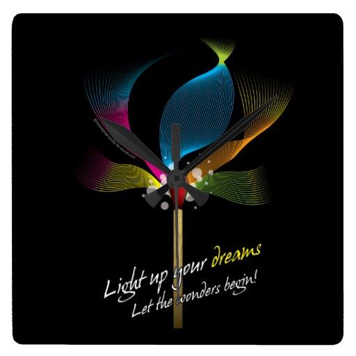 Light Up Your Dreams Wallclocks Zazzle