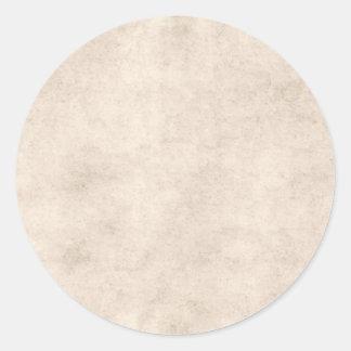 Light Vintage Parchment Antique Paper Background Round Sticker