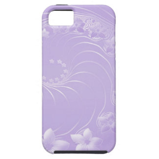 Light Violet Abstract Flowers iPhone 5 Covers