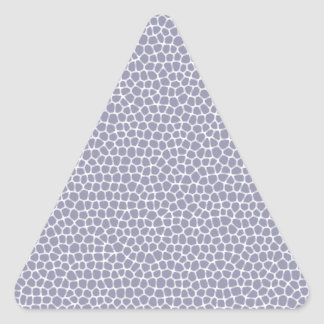 light violet giraffe skin triangle sticker