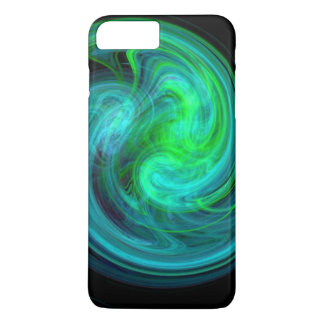 LIGHT VORTEX ,Abstract Blue Green Fractal Waves iPhone 8 Plus/7 Plus Case