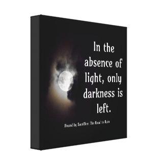 Light vs Dark quote canvas Canvas Print