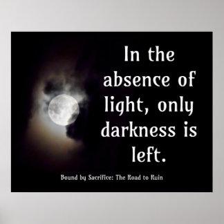 Light vs Dark quote Poster