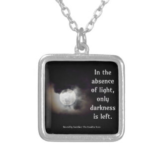 Light vs Dark quote Silver Plated Necklace