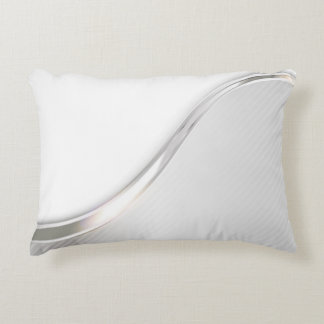 Light Wave Abstract Accent Pillow