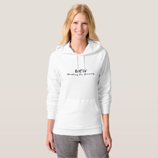 Light weight hoodie with blue lettering