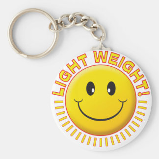 Light Weight Smiley Keychains