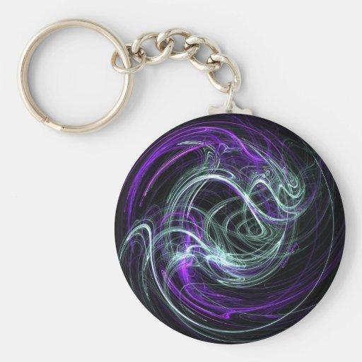 Light Within - Violet & Indigo Swirls Keychain
