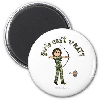 Light Woman Archery in Camouflage Fridge Magnet