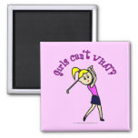 Light Woman Golfer Fridge Magnet