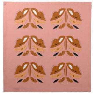 Light wood Brown Ornaments. Original artwork Napkin