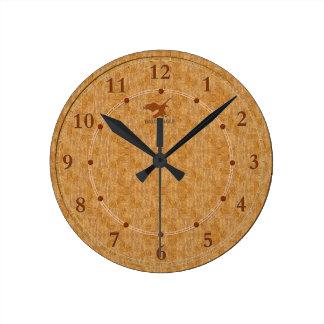 Light Wood Decorative 5-a Modern Wall Clock Sale