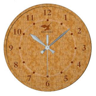 Light Wood Decorative 5-b Modern Wall Clock Sale