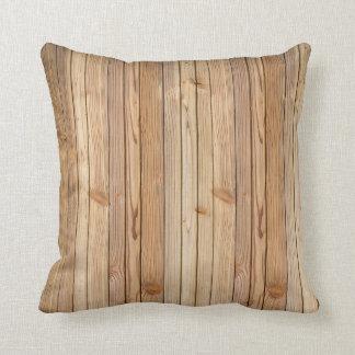 Light Wood Paneling Texture Throw Pillow