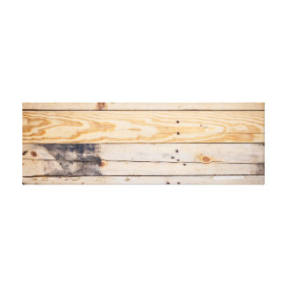 Light Wooden Panel. Canvas Print
