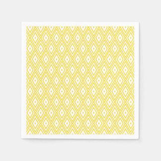 Light Yellow and White Diamond Napkins Paper Napkin