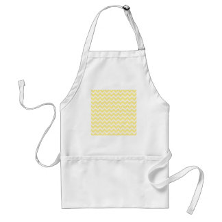 Light Yellow and White Zigzags. Standard Apron