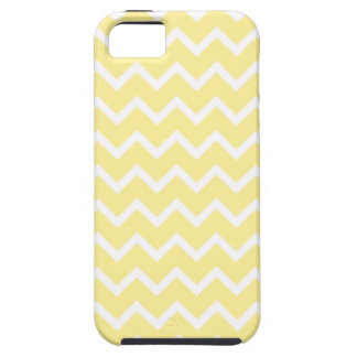 Light Yellow and White Zigzags. iPhone 5 Case