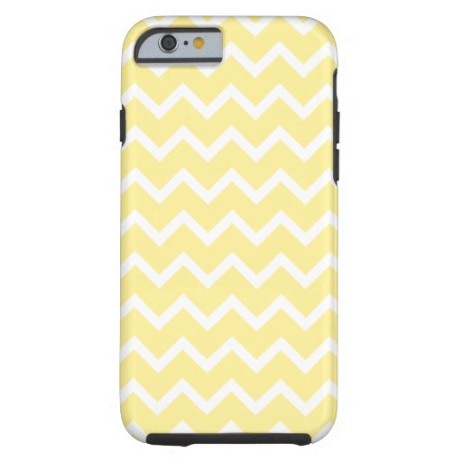 Light Yellow and White Zigzags. iPhone 6 Case
