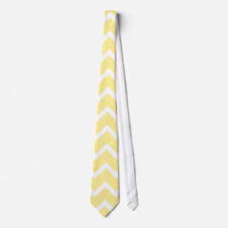 Light Yellow and White Zigzags. Tie