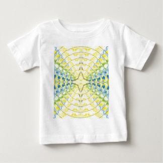 Light Yellow Blue Circular Artistic Pattern Baby T-Shirt