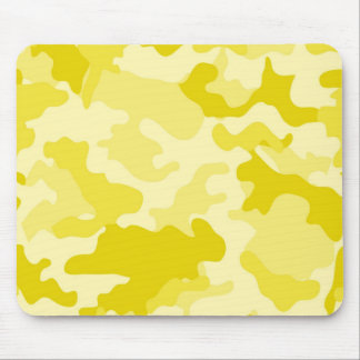 Light Yellow Camo Mousepad