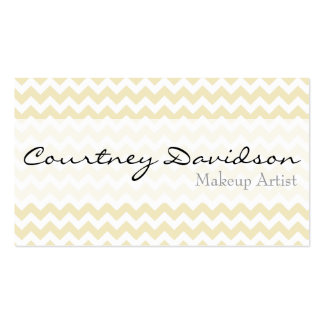Light Yellow Chevron Business Cards