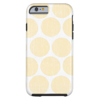 Light Yellow Distressed Polka Dot iPhone 6 Tough iPhone 6 Case