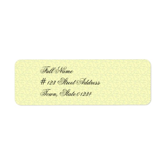 Light Yellow Mailing Labels