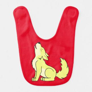 Light Yellow Wolf Pup Howling Bib