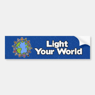light your world bumper bumper sticker