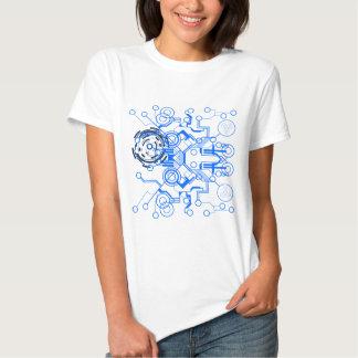 lightblue circuitboard flowchart tee shirt