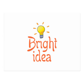 LIGHTBULB BRIGHT IDEA POSTCARD
